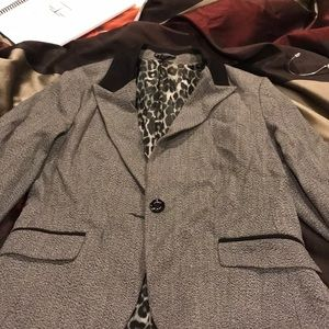Express Blazer size 12 black and white and gray